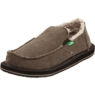 Sanuk Men's Vagabond Chill Slip-On,Brown,8 M US