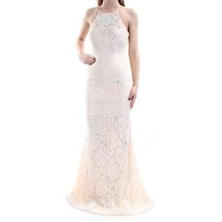 BETSY & ADAM $339 Womens New 1260 Pink Rhinestone Lace Sheath Dress 2 B+B