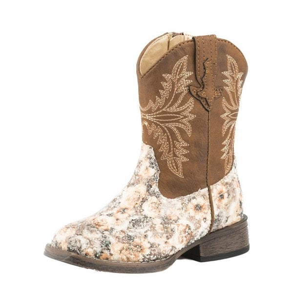 Roper Girls/' Girl/'s Glitter Western Braid Cowgirl Boot Square Toe