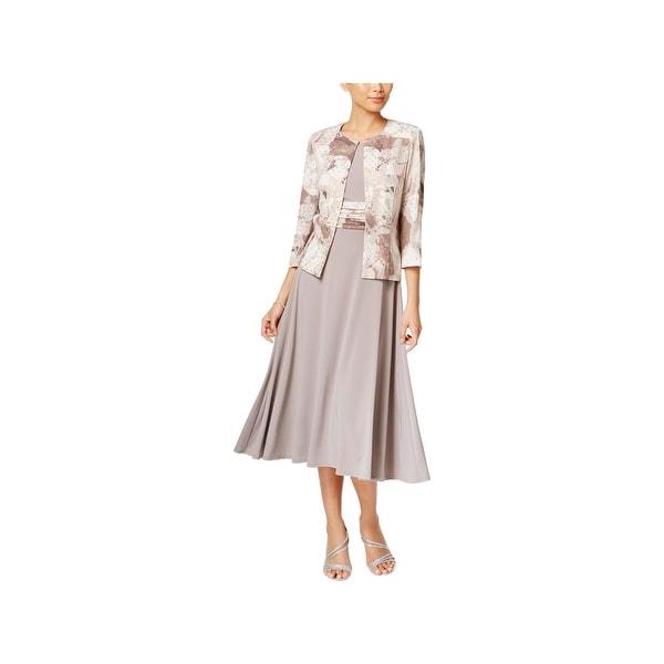 bc86058971931 Shop Jessica Howard Womens Petites Jacket Dress Floral Embellished ...