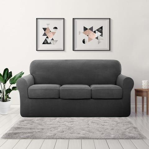 Subrtex Sofa Separate Cushion Soft Cover Slipcover Furniture Protector