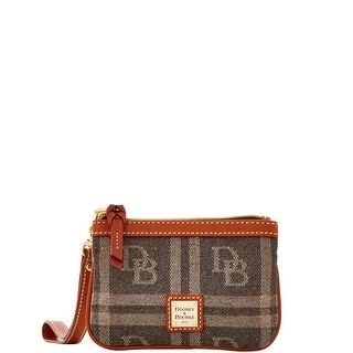 Dooney & Bourke DB Plaid Jacquard Medium Wristlet (Introduced by Dooney & Bourke at $58 in Jul 2016) - Black