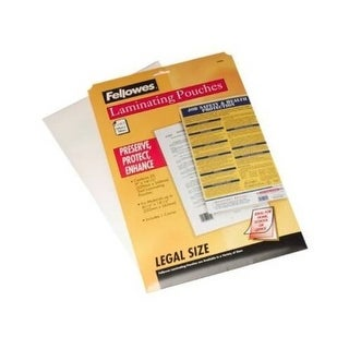 Fellowes, Inc. - Laminating Pouches Legal 3Mil 25Pk,Dds Must Be Ordered In Multiples Of Case Qty=