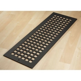 "Reggio Registers G824-SNH Grid Series 22"" x 6"" Floor Grille without Mounting Hol"