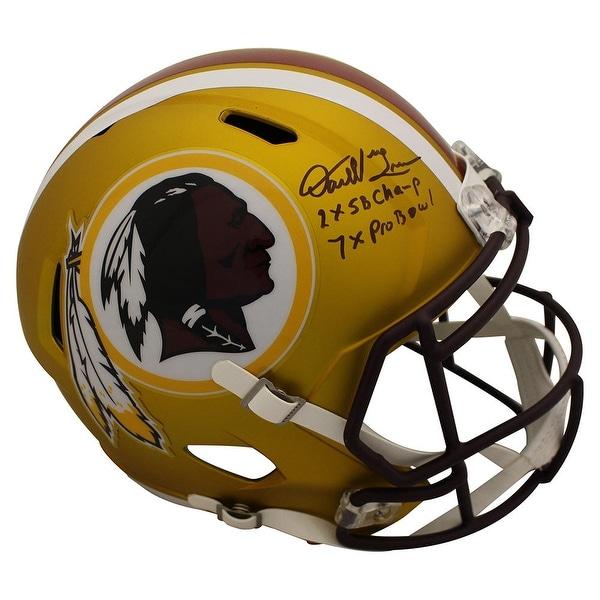 Shop Darrell Green Autographed Washington Redskins Blaze Helmet 2 Insc JSA  - Free Shipping Today - Overstock.com - 26269634 93f98eb8d