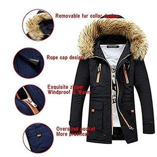 Link to Men Coat Jacket Faux Fur Hooded Cotton Padded Parka Outerwear And Coats Similar Items in Women's Outerwear
