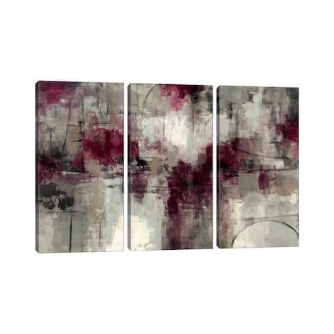 "iCanvas ""Stone Gardens "" by Silvia Vassileva 3-Piece Canvas Wall Art Set"