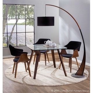 Link to Lucci Mid-Century Modern Dining/Accent Chair in Walnut and Velvet Similar Items in Dining Room & Bar Furniture