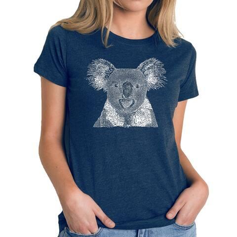 Women's Premium Blend Word Art T-shirt - Koala