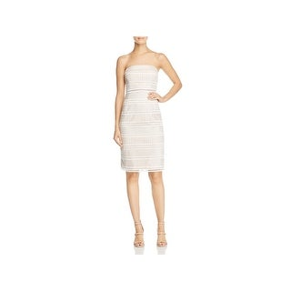 Adrianna Papell Womens Cocktail Dress Eyelet Lace