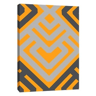"""PTM Images 9-105720  PTM Canvas Collection 10"""" x 8"""" - """"Monochrome Patterns 6 in Yellow"""" Giclee Abstract Art Print on Canvas"""