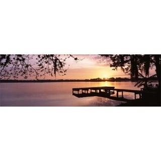 USA Florida Orlando Koa Campground Lake Whippoorwill Sunrise