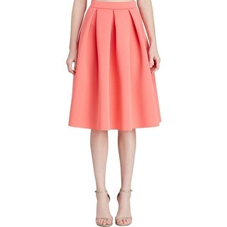 Aqua Womens Juniors A-Line Skirt Neoprene Pleated
