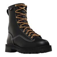 "Danner Men's Super Rain Forest Non Metallic Toe 8"" Boot Black Leather"