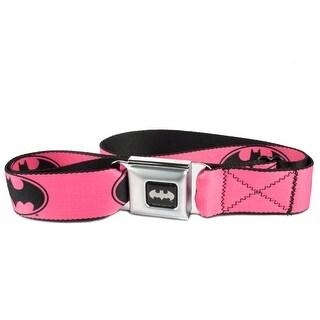 Buckle Down Kids' DC Comics Pink Batman Seatbelt Buckle Belt - One size