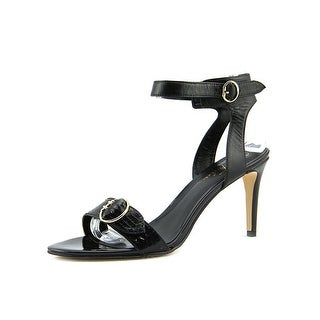 Marc Fisher Malika Women  Open Toe Leather Black Sandals
