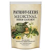 Patriot Seeds 100% Heirloom Medicinal Herb Garden 10 Variety Pack