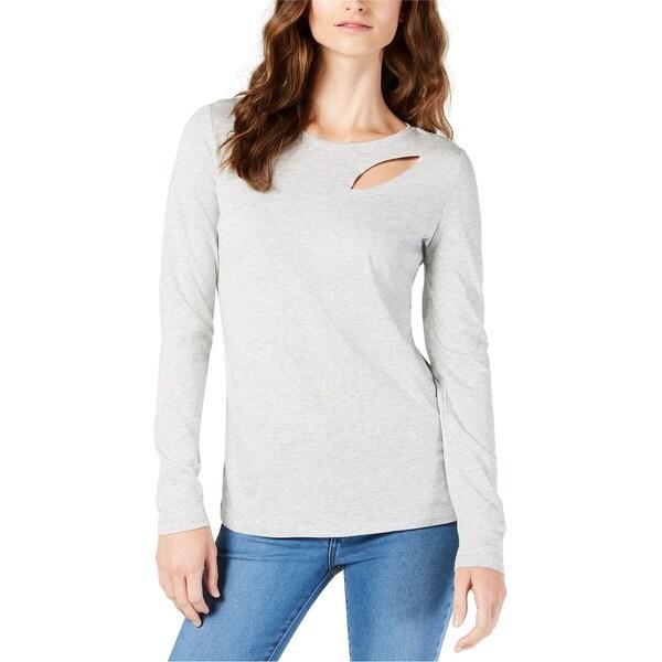 I-N-C Womens Cutout Basic T-Shirt. Opens flyout.