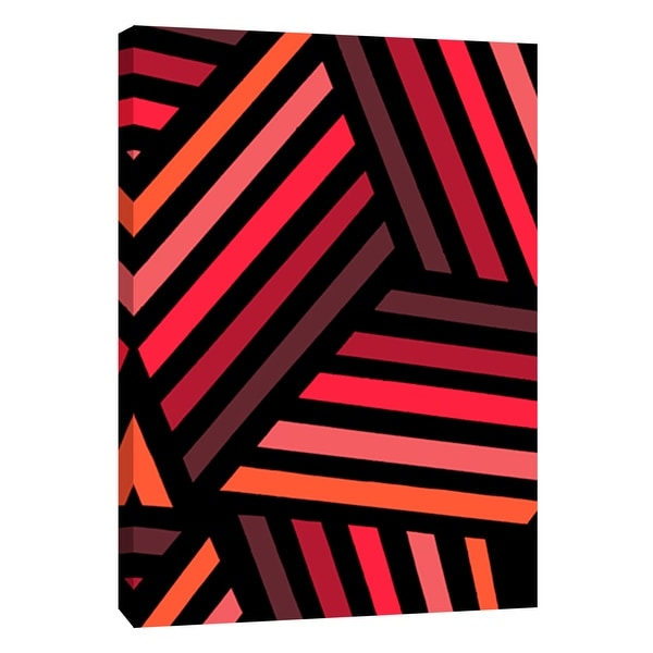 """PTM Images 9-108742 PTM Canvas Collection 10"""" x 8"""" - """"Monochrome Patterns 4 in Red"""" Giclee Abstract Art Print on Canvas"""