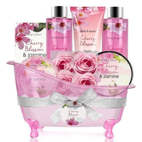 8 Pc Gift Basket W/ Cherry Blossom & Jasmine