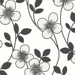 Brewster 2533-20230 Freud Black Blossom Trail Wallpaper