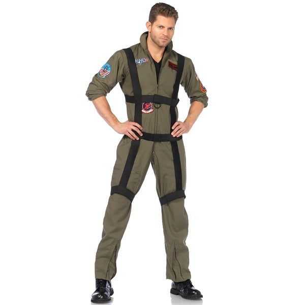 High Quality Shop Leg Avenue Top Gun Paratrooper Adult Costume   Green   Free Shipping  Today   Overstock.com   15421975