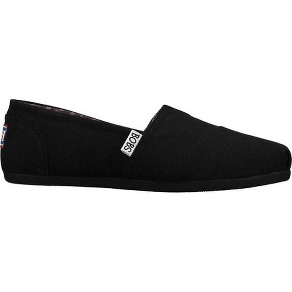 BLACK SKECHERS BOBS Womens Plush Peace And Love