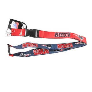 New England Patriots Reversible Clip Lanyard Keychain Id Ticket Holder