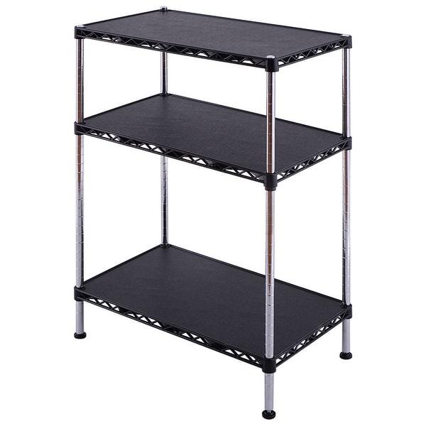 3-Tiers Adjustable Storage Rack Display Shelf