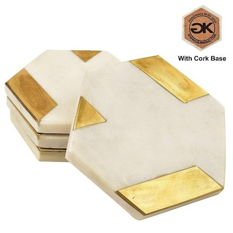 GAURI KOHLI Marble Coasters (Set of 4)