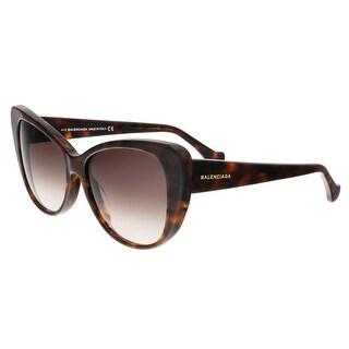 Balenciaga BA0016 55F Brown Square Sunglasses - 57-15-140