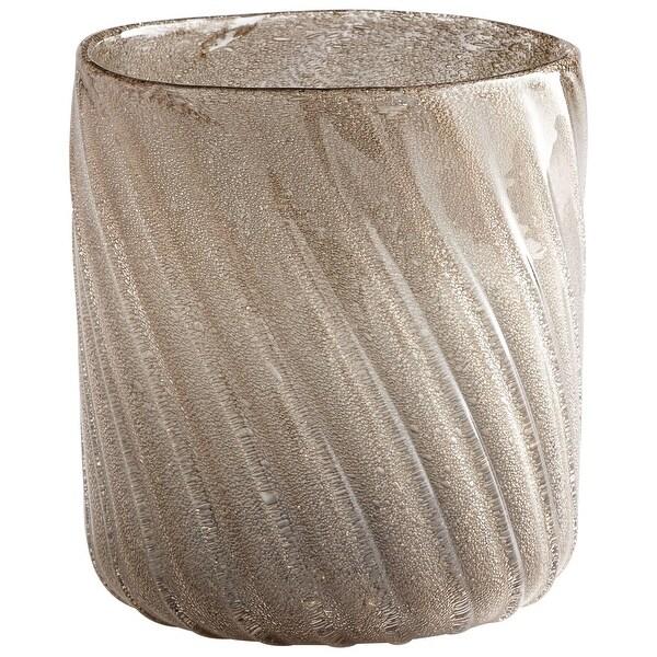 "Cyan Design 09477 Alexis 7"" Diameter Glass Vase - Almond Gold"