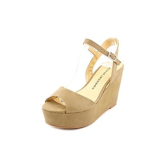 Chinese Laundry Geometry Open Toe Synthetic Wedge Sandal
