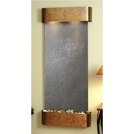 Adagio Inspiration Falls Wall Fountain Black FeatherStone Rustic Copper - IFR101