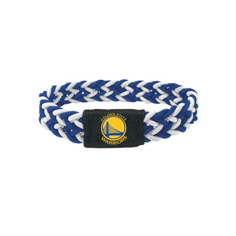 Golden State Warriors Bracelet Braided Blue and White