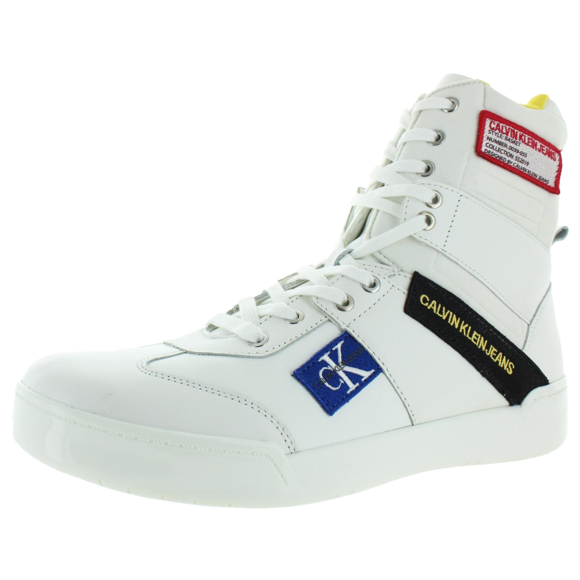 calvin klein jeans high top sneakers