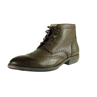 Andrew Marc Mens Hillcrest Mid Dress Boots Leather Wingtip