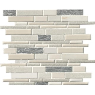 "MSI SPIL-EVER8MM  12"" x 12"" Random Linear Mosaic Wall & Floor Tile - Smooth Stone Imitating Visual - Sold by Carton (10"