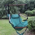 Sunnydaze Hanging Hammock Chair W/ Pillow & Drink Holder - Thumbnail 17