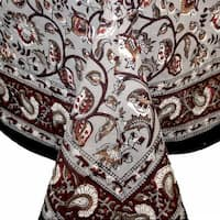 Handmade Dabu Floral Hand Block Print Tablecloth 100% Cotton Rectangular Square Round & Napkins