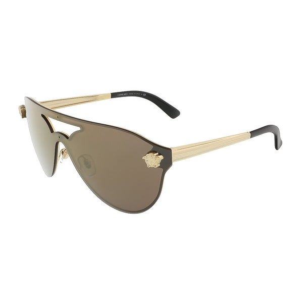 Versace VE2161 1002F9 Gold Medusa Rock Visor/Pilot Sunglasses