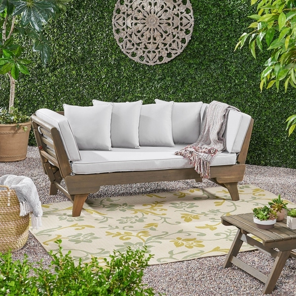 Ottavio Outdoor Wood Daybed with Cushions by Christopher Knight Home. Opens flyout.
