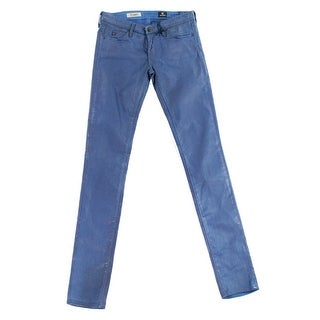 Adriano Goldschmied NEW Blue Women's Size 26X30 Slim Skinny Coated Jeans