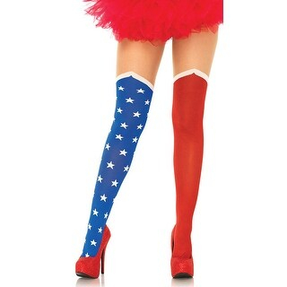 Hero Illusion Tights - Blue/Red - One Size Fits most