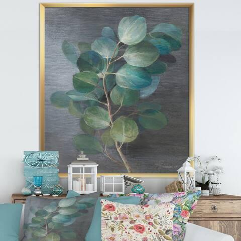 Designart 'Fresh leaves I' Traditional Framed Art Print