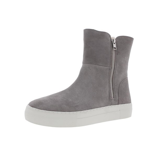 Steve Madden Womens Boost Casual Boots Suede Faux Fur Lined