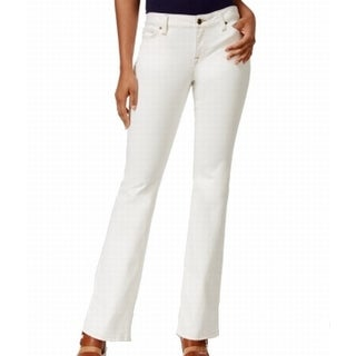 Tommy Hilfiger NEW White Women's Size 8 Contrast Seam Flare Jeans