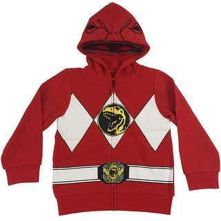 The Power Rangers Big Boys I Am Costume Zip Hoodie