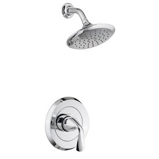 American Standard T186.501 Fluent Shower Trim Package with Single Function Shower Head and Valve Trim - Less Pressure Balanced