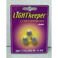 Pack of 3 Light Keeper Pro 1.5 Volt Button Cell Replacement Batteries - silver